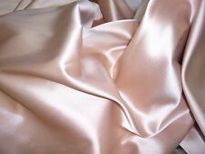 ITALIAN WATUSSO HEAVY STRETCH SATIN  -SOFT PINK -DRESS FABRIC-FREE P&P