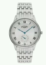 Rotary Mens Swiss Steel Bracelet Watch - GB03638/06. New In Box. 248