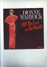 disque 45 tours  dionne warwick - all the love in the world