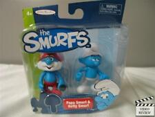 The Smurfs figurine 2-pack - Papa Smurf & Hefty Smurf NEW Jakks Pacific