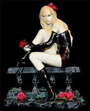 Nemesis Now SEXY GOTHIC GIRL FIGURE LAMENT WITH ROSES ON A BALCONY Rose Flower