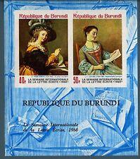 BURUNDI - BF - 1968 - Settimana internazionale della lettera scritta - non dent.