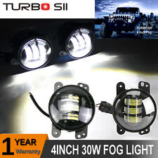 "Cree 4"" Round LED Fog Lights Driving Lamp DRL 07-15 JEEP Wrangler JK TJ CJ 30W"