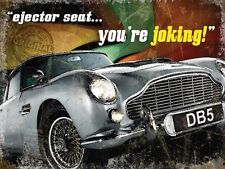 Aston Martin DB5, Ejector Seat, Classic Car, James Bond, Medium Metal/Tin Sign