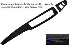 PURPLE STITCH TWO PIECE DASH KIT LEATHER COVERS FITS MITSUBISHI LANCER EVO 7 8 9