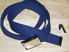 Belt Web Navy Blue Army Military USMC Marine Jeans Fashion with P38 Can Opener