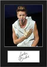 JUSTIN BIEBER #2 Signed Photo Print A5 Mounted Photo Print - FREE DELIVERY