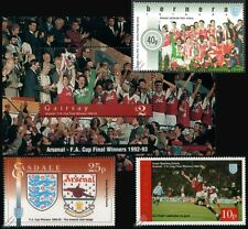ARSENAL FC / FA CUP Winners 1992-1993 Football Stamps (Ian Wright / Tony Adams)