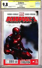 DEADPOOL #1 VARIANT CGC 9.8 SS Signed+Sketch/Painted Clayton Crain! ORIGINAL ART
