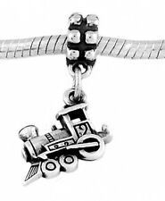 STERLING SILVER DANGLE SMALL TRAIN EUROPEAN  BEAD