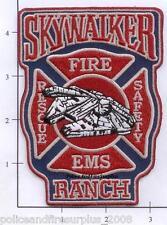 California - Skywalker Ranch CA Fire Rescue EMS Fire Dept Patch Star Wars Patch