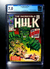 COMICS: Incredible Hulk #102 (1968), Premiere issue/origin retold - CGC 7.0