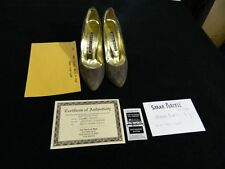 Sarah Purcell Personally Worn Pair of Walter Steiger Suede Brown Pumps w/ COA