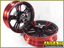 Area 22 14 2015 Honda MSX125 Grom Typ 2 Maßgefertigt Breit Mag Räder Felgen Rot