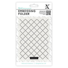 Docrafts Xcut A6 embossing folder 15x10cm Quilting pattern X cut