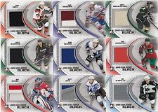 28ct 2011-12 ITG Heroes & Prospects Hockey Game-Used Black Jersey Card Lot