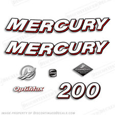 Mercury 2006 200hp Optimax Decal Kit - Discontinued Decals for Outboard Engines