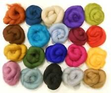 Feutrage laines-laine mérinos tops-variété pack - 20 couleurs