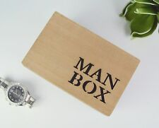 Man Box, Mens Jewellery & Cufflink Box, watch storage - man cave - gift for dad