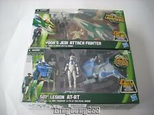 STAR WARS Hasbro 501st Legion AT-RT & Yoda's Jedi Attack Fighter - NEW