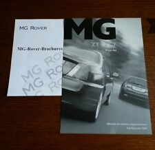 MG ZT ZT-T 2004 MK2 Price List & Options brochure 120 160 180 190 KV6 260 V8