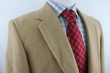Lord & Taylor Tan 100% Camel Hair Leather 2 Button Sport Coat Jacket Mens 39