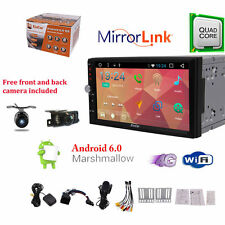 "Android 6.0 Car stereo GPS NO-DVD player 7"" Double 2DIN Radio 3G WiFi OBD+2 Cams"