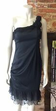 BETSEY JOHNSON BLACK SILK DRESS. BNWT. SIZE US 8. UK 10