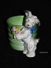 +# A015957_05 Goebel Archiv Muster Schale Vase Behälter Terrier mit Blumen KZ5