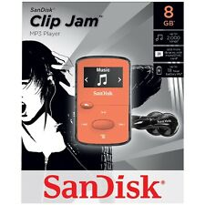 NEW SanDisk Sansa Clip Jam 8GB ORANGE MP3 Player FM Radio Music USB MicroSD Slot