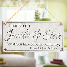 Thank You - Special Thanks Personalised Wooden Sign Gift For Teacher Nurses Mum