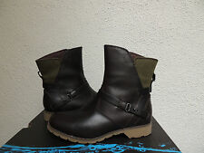 TEVA DE LA VINA BROWN/ GREEN WATERPROOF LEATHER ANKLE BOOTS, US 7/ EUR 38~ NIB