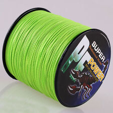 16 Strands Fluorescent Green  100M 30LB 100%PE Dyneema Braided Fishing Line