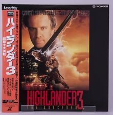 04124 F/S Mint Laserdisc HIGHLANDER 3 [PILF-2135] w/OBI from Japan