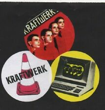 3 KRAFTWERK  BADGES. Man Machine, Computer World.