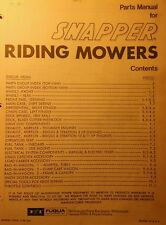 Snapper RER 1978 8 10 11 HP Riding Lawn Mower Tractor Parts Manual 40pg #1-2913