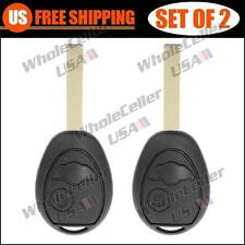 2 New Flip Key FOB Shell Remote Case 02 - 05 Mini Cooper R50 R53 Without Chip