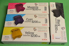 Xerox ColorStix Phaser 8200 Black Cyan Yellow Magenta 4 Boxes 1 Each Colour Set