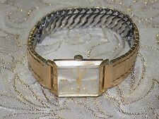 Men's Handsome Dress BULOVA  M7   10k Rolled Gold Plate Square Mechanical  Watch
