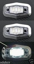 2x 12V LED Côté BLANC Cadre Chromé feux de position pour Camion Bus Camping car