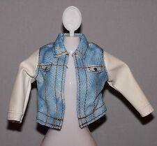 Barbie Doll Clothes Fashionista Dreamhouse Faux Leather & Denim Jacket