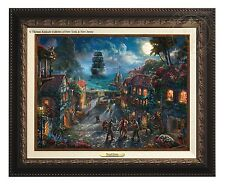 Thomas Kinkade Pirates of the Caribbean Canvas Classic (Bronze Frame)