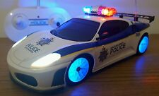 FERRARI SPIDER POLICE CAR RADIO REMOTE CONTROL CAR SIREN SOUND LEDS - FAST SPEED
