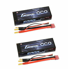 2X Gens ace 5000mAh 7.4V 50C/100C 2S LIPO BATTERY RC 1/10 Traxxas slash TURNIGY