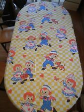 """Raggedy Ann and Andy bed sheet 96x63.5"""" VIntage Single JC Penny 1970's"""