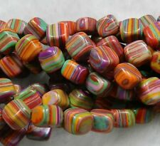"8mm Multicolor Turkey Turquoise Gems Loose Beads 15"" SF"