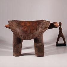 8700 Hocker der Gurunsi Patina schildkröte turtle stool  ...