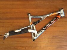 "Cannondale Rush 3 Polished Mountain Bike Frame Medium Fox 26"" 650b Made In USA"