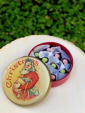 Miniature Dollhouse FAIRY GARDEN Accessories ~ CHRISTMAS Candy in Round Tin NEW