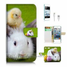 iPod Touch 6 iTouch 6 Flip Wallet Case Cover P2359 Bunny Rabbit